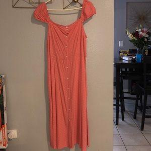 Off the shoulder polka dot dress 💓 NWT
